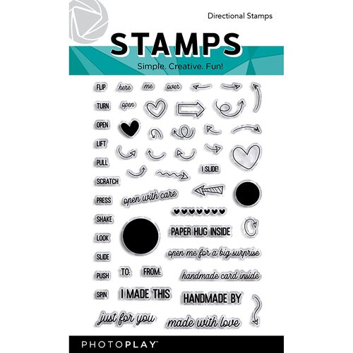 Photo Play Paper - Maker's Series Collection - Creation Bases - Clear Photopolymer Stamp - Directional