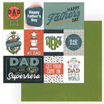 Photo Play Paper - Rad Dad Collection - 12 x 12 Double Sided Paper - Best Dad