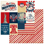 Photo Play Paper - Red, White and Blue Collection - 12 x 12 Double Sided Paper - Independence Day