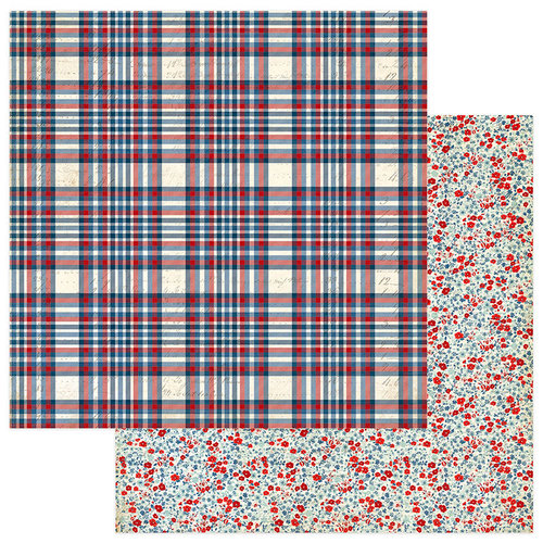 Photo Play Paper - Red, White and Blue Collection - 12 x 12 Double Sided Paper - Freedom