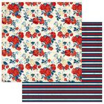 Photo Play Paper - Red, White and Blue Collection - 12 x 12 Double Sided Paper - Home of the Brave