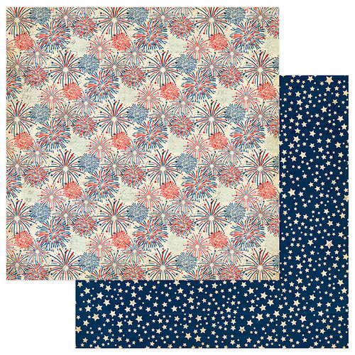 Photo Play Paper - Red, White and Blue Collection - 12 x 12 Double Sided Paper - Land of the Free