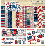Photo Play Paper - Red, White and Blue Collection - 12 x 12 Collection Pack