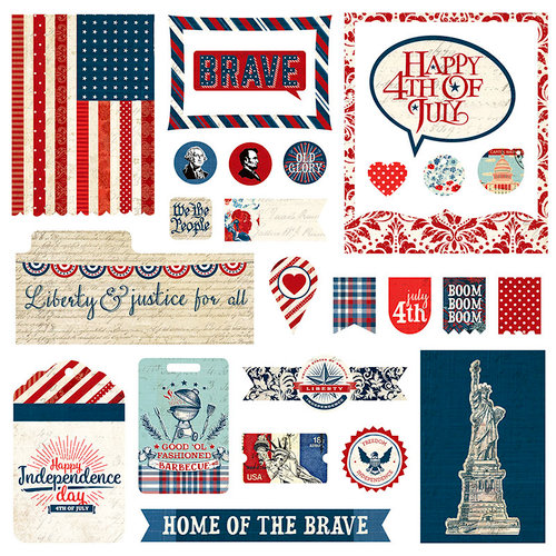 Photo Play Paper - Red, White and Blue Collection - Ephemera