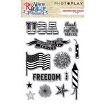 Photo Play Paper - Red, White and Blue Collection - Clear Acrylic Stamps