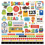 Photo Play Paper - Recess Collection - 12 x 12 Cardstock Stickers - Elements