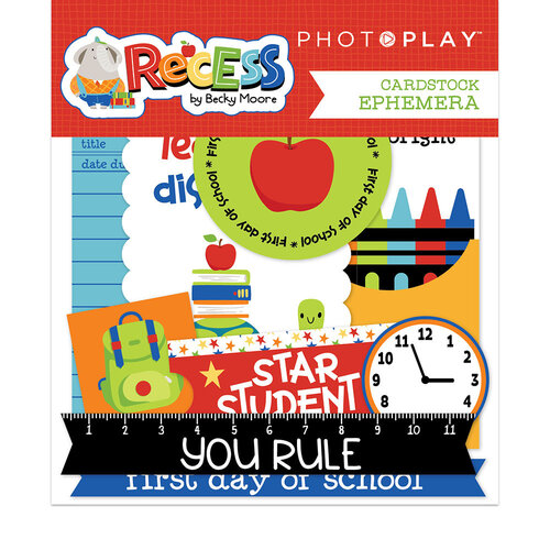 Photo Play Paper - Recess Collection - Die Cut Cardstock Pieces - Ephemera