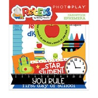 Photo Play Paper - Recess Collection - Die Cut Cardstock Pieces - Ephemera