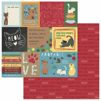 Photo Play Paper - Roxie and Friends Collection - 12 x 12 Double Sided Paper - The Cat's Meow
