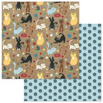Photo Play Paper - Roxie and Friends Collection - 12 x 12 Double Sided Paper - Meow Mix
