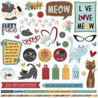 Photo Play Paper - Roxie and Friends Collection - 12 x 12 Cardstock Stickers - Elements