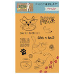 Photo Play Paper - Roxie and Friends Collection - Clear Acrylic Stamps