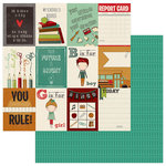 PhotoPlay Paper - Real Genius Collection - 12 x 12 Double Sided Paper - 3 x 4 Cards