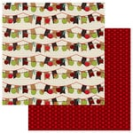Photo Play Paper - Real Genius Collection - 12 x 12 Double Sided Paper - Apple Banner