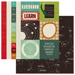 PhotoPlay Paper - Real Genius Collection - 12 x 12 Double Sided Paper - Border Cards