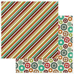Photo Play Paper - Real Genius Collection - 12 x 12 Double Sided Paper - Stripe