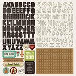 Photo Play Paper - Real Genius Collection - 12 x 12 Cardstock Stickers - Alphabet