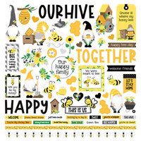 Photo Play Paper - Tulla and Norbert's Sweet As Honey Collection - 12 x 12 Cardstock Stickers - Elements