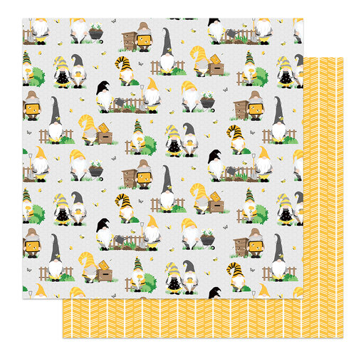 Photo Play Paper - Tulla and Norbert's Sweet As Honey Collection - 12 x 12 Double Sided Paper - Bee Keeper