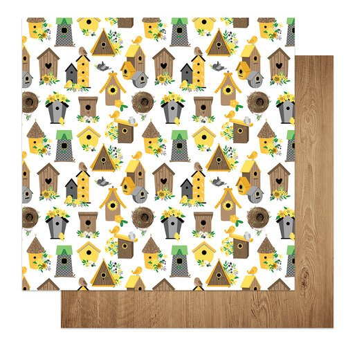 Photo Play Paper - Tulla and Norbert's Sweet As Honey Collection - 12 x 12 Double Sided Paper - Tweet Tweet