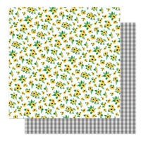 Photo Play Paper - Tulla and Norbert's Sweet As Honey Collection - 12 x 12 Double Sided Paper - Sunflowers