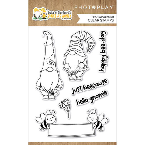 Photo Play Paper - Tulla and Norbert's Sweet As Honey Collection - Clear Photopolymer Stamps