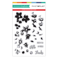 Photo Play Paper - Clear Photopolymer Stamps - Layered Blossoms