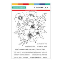 Photo Play Paper - Clear Photopolymer Stamp Set - Bouquet