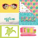 PhotoPlay Paper - Summer Daydreams Collection - 12 x 12 Double Sided Paper - Summer Fun 4x6 Cards