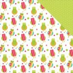Photo Play Paper - Summer Daydreams Collection - 12 x 12 Double Sided Paper - Popsicles