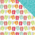 Photo Play Paper - Summer Daydreams Collection - 12 x 12 Double Sided Paper - Flip Flops