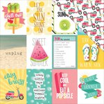 PhotoPlay Paper - Summer Daydreams Collection - 12 x 12 Double Sided Paper - Unplug 3 x 4 Cards