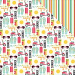 Photo Play Paper - Summer Daydreams Collection - 12 x 12 Double Sided Paper - Enjoy the Ride