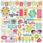 PhotoPlay Paper - Summer Daydreams Collection - 12 x 12 Cardstock Stickers - Elements