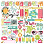 Photo Play Paper - Summer Daydreams Collection - 12 x 12 Cardstock Stickers - Elements