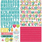 Photo Play Paper - Summer Daydreams Collection - 12 x 12 Cardstock Stickers - Alphabet