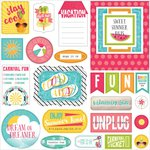 Photo Play Paper - Summer Daydreams Collection - Ephemera Titles - Tags - Frames