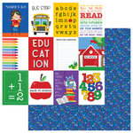Photo Play Paper - School Days Collection - 12 x 12 Double Sided Paper - ABC