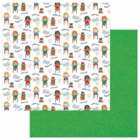Photo Play Paper - School Days Collection - 12 x 12 Double Sided Paper - Reading is Fun