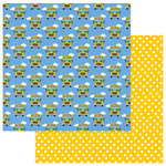 Photo Play Paper - School Days Collection - 12 x 12 Double Sided Paper - Bus Stop