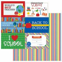 Photo Play Paper - School Days Collection - 12 x 12 Double Sided Paper - Elementary