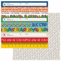 Photo Play Paper - School Days Collection - 12 x 12 Double Sided Paper - 1st Day of School