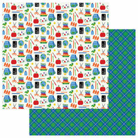 Photo Play Paper - School Days Collection - 12 x 12 Double Sided Paper - Back to School