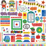 Photo Play Paper - School Days Collection - 12 x 12 Cardstock Stickers - Elements