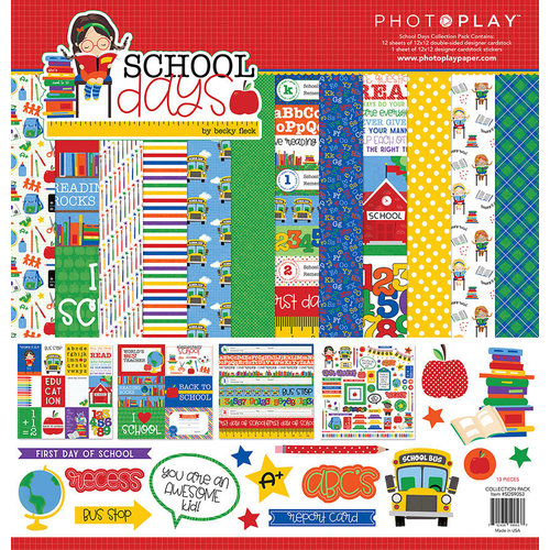 Photo Play Paper - School Days Collection - 12 x 12 Collection Pack