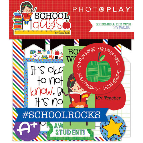 Photo Play Paper - School Days Collection - Ephemera