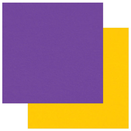 Photo Play Paper - School Days Collection - 12 x 12 Double Sided Paper - Purple
