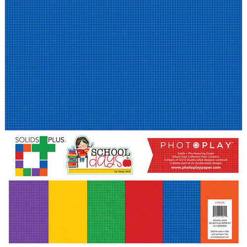 Photo Play Paper - School Days Collection - 12 x 12 Collection Pack - Solids