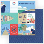 Photo Play Paper - Set Sail Collection - 12 x 12 Double Sided Paper - Bon Voyage