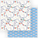 Photo Play Paper - Set Sail Collection - 12 x 12 Double Sided Paper - All Aboard